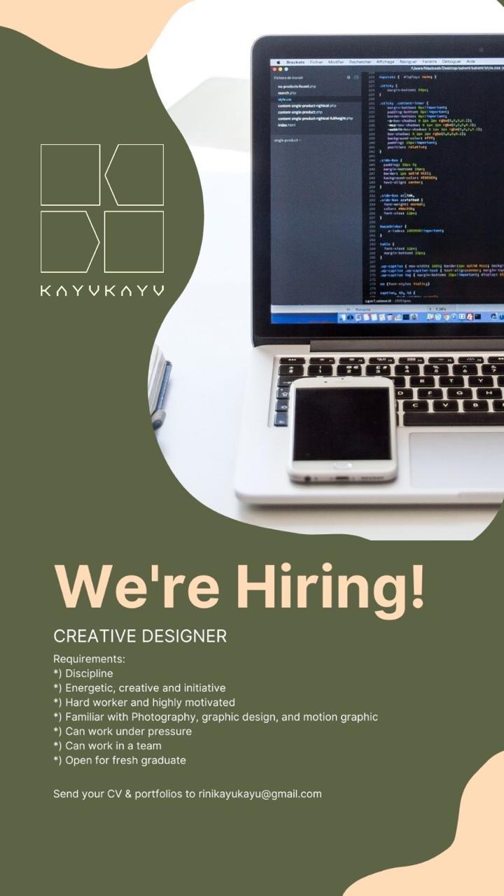 Lowongan Creative Designer